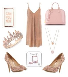 """""""Can You Not_Rose Gold⭐"""" by edenbri ❤ liked on Polyvore featuring Sans Souci, Head Over Heels by Dune, Michael Kors, Missguided, Louis Vuitton, Anne Sisteron and Happy Plugs"""