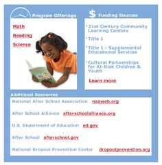GREAT RESOURCE! Funding for after school programs