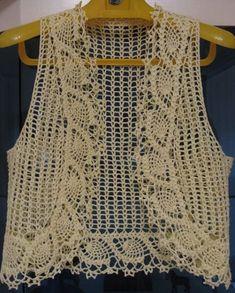 Débardeurs Au Crochet, Crochet Bolero, Crochet Scrubbies, Gilet Crochet, Crochet Baby Cardigan, Crochet Jacket, Crochet Cardigan, Crochet Tops, Crochet Stitches Patterns