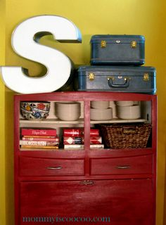 mommy is coo coo: Vintage Bakers Cabinet the Ultimate Storage & Organization Solution