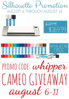 Whipperberry: Silhouette CAMEO GIVEAWAY & Vinyl Promotion
