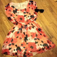 Lush Floral Dress Super cute mini summer dress. Beautiful color and floral design. Worn once, still in good condition. Lush Dresses Mini