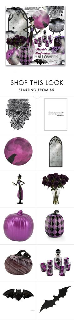 """""""Purple Infusion Halloween Party"""" by leanne-mcclean ❤ liked on Polyvore featuring Design Imports, Currey & Company, Disney, Improvements, Lenox and Fitz & Floyd"""