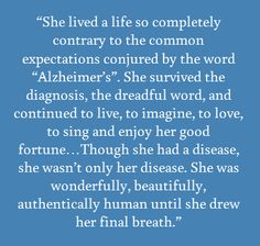 Blogger's Journey in 'Alzheimer's World' Brings Perspective