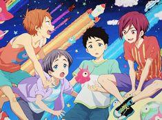 Momo, Aichirou, Sousuke, Rin   Free! Eternal Summer