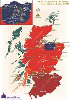 Regional varieties and distilleries of Scotch Whisky [800x1135] CLICK HERE FOR MORE MAPS! thelandofmaps.tumblr.com