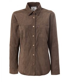 April Suede Shirt. Shop this and other women fall 2016 styles from Lexington Company on www.lexingtoncompany.com.