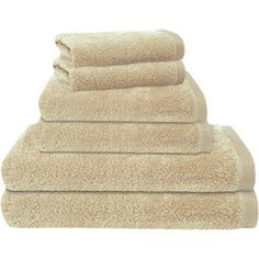 Color Remedy 6-Piece Bath Towel Set  Color: Parchment