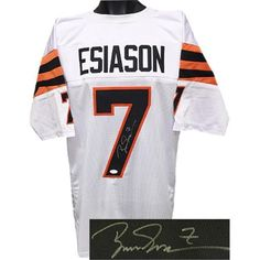 Athlon CTBL-018251N Boomer Esiason Signed White TB Custom Stitched Pro  Style Football Jersey - No.7 JSA Hologram be5224e20