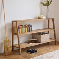 With its functional linear design and beautiful r Home Decor Furniture, Furniture Projects, Furniture Decor, Diy Home Decor, Furniture Design, Living Room Decor, Bedroom Decor, Ladder Bookcase, Minimalist Home