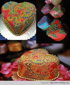 henna-cakes-cupcakes-desserts-jewel-creme-delicious- who has time for this beautiful madness? Mini Tortillas, Beautiful Cakes, Amazing Cakes, Gorgeous Gorgeous, Mini Cakes, Cupcake Cakes, Indian Wedding Cakes, Indian Weddings, Wedding Henna