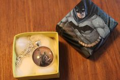 Batman and Catwoman necklace