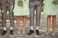 Mint Green and Grey Wedding