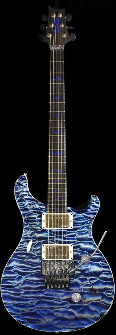Wild West Guitars : PRS Private Stock #4058 Custom 24 w/ Floyd Rose- Faded Indigo