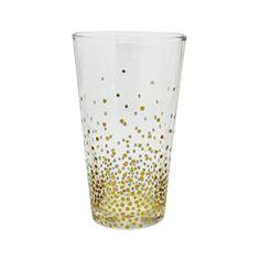 GOLD BUBBLE PINT GLASS 4-PK