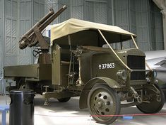 Thornycroft J-Type Lorry 13 pdr Anti-Aircraft Gun - 1915, via Flickr.