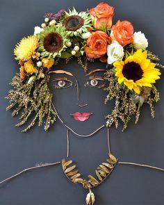 """""Autumn"""" Flower Face Print"