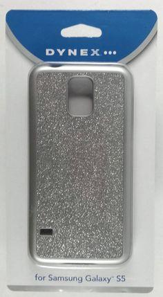 Dynex Phone Case For Samsung Galaxy S 5 S5 DX-MS5DB23 Silver (Glitter) NEW!! #Dynex