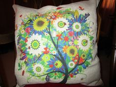 Colorful Tree Pillow Case – By Cukudy – Product Review  http://www.amazon.com/Cukudy-Colorful-Pillow-Cotton-Cushion/dp/B00PGYHUVC