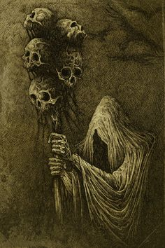 Halloween Art. Death Art Print