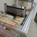 OSLOOM (short for OPEN SOURCE LOOM) is a project aimed at creating an open source electromechanical thread-controlled floor loom that will be computer controlled.