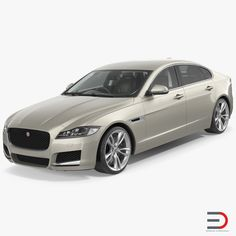 3D Jaguar XF Simple Interior model