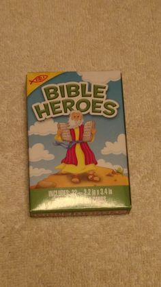 Bible heroes kid card game