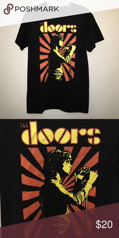 Doors band tshirt Never worn! Sick shirt. Very hipster/grunge. Would look great with the doc martens I have listed! Small but would fit Medium. Tops Tees - Short Sleeve