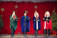 The Candy Cane Carollers sing traditional holiday songs. ©Thane Lucas 2012