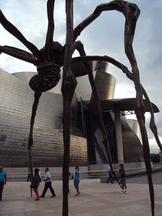 Taking a walk in Bilbao Guggenheim museum By Frank Gehry  Own photo of Arq. Andrea Stinga of Ombú Architecture Studio