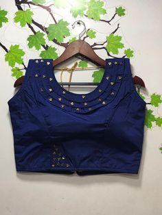 Pure sana silk blouse blue blouse fancy blouse designer blouse indian blouse readymade blouse blouse for women saree blouse Indian Blouse Designs, Blouse Back Neck Designs, Kids Blouse Designs, Sari Design, Designer Kurtis, Blouse Lehenga, Stylish Blouse Design, Designer Blouse Patterns, Collor