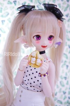 Tv Anime, Anime Plus, Ooak Dolls, Blythe Dolls, Girl Dolls, Beautiful Barbie Dolls, Pretty Dolls, Kawaii Doll, Kawaii Anime