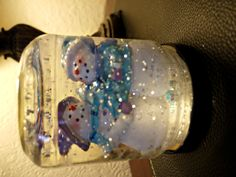 Preschool Crafts for Kids*: Christmas Snow Globe Jar Craft