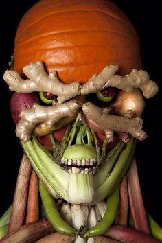 Halloween veggies! Love it.