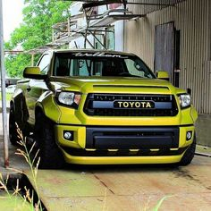 Lowered widebody Tundra
