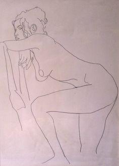 Nudo di Irene, Nude drawing of the model Irene, pencil 8B  on paper Fabriano. Http://digilander.libero.it/artsergio/