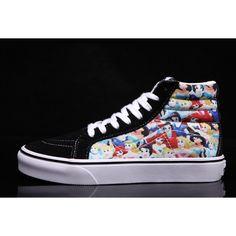 Vans x Disney Princess Fairy Cartoon Sk8 Hi Skateboard Shoes  Vans Sk8 Hi 69fd52950