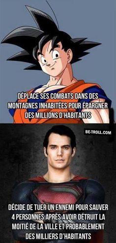 La différence entre Goku et Superman...