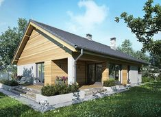 Ibis II - zdjęcie 2 House Plans Mansion, Modern Barn House, Gazebo, Outdoor Structures, Mansions, Outdoor Decor, Home Decor, Gallery, 4 Bedroom House