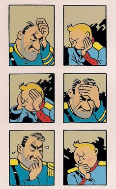 Tintin & the General playing chess! Looks like me and my brother!