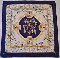 a1d6f3ea0743 Vintage authentic hermes paris les becanes hugo grygkar 1954 silk 35