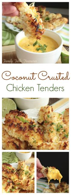 Coconut Crusted Chicken Tenders (by Family Table Treasures)