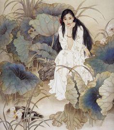 Wang meifang and Zhao Guojing Wang Meifang, is a second-class artist at the Tianjin Academy of Arts and Crafts. Zhao Guojing, is a first-class painter at the Tianjin Academy of Painting. Art And Illustration, Botanical Illustration, Chinese Painting, Chinese Art, Art Asiatique, Art Japonais, Fairytale Art, Wow Art, Fine Art