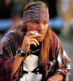 Axl Rose- I was convinced in middle school that he was my future husband! Lol. I still love me some Axl.