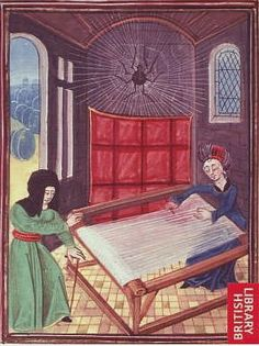 De Zwarte Zwaan Levende Geschiedenisgroep (artwork showing weaving through the centuries)