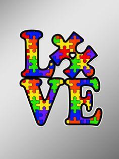AA-03 Autism Awareness Puzzle Vinyl Decal Sticker