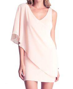 Diagonal Shoulder Hip-wrapped Dress