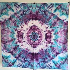 A personal favorite from my Etsy shop https://www.etsy.com/listing/268422714/trippy-hippie-mandala-tie-dye-tapestry