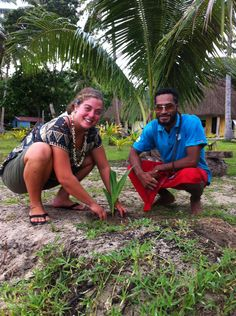 The tree planting farewell tradition at Caqalai continues!  Huge thanks to all volunteers leaving today. #GVI #Fiji