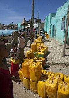 Lack of water in Harar, Ethiopia by Eric Lafforgue, via Flickr